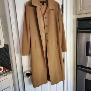Kenneth Cole Mid Calve Wool Coat in tan/camel